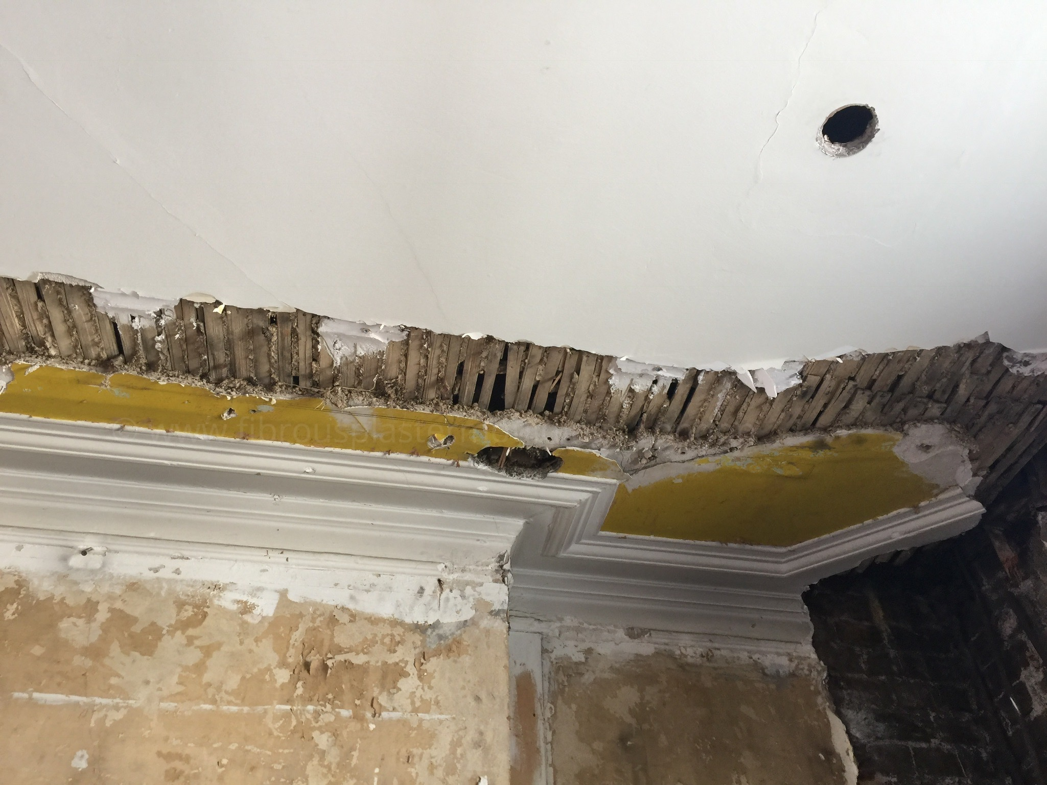 failed drywall how img to seam plaster patching a ceiling repair