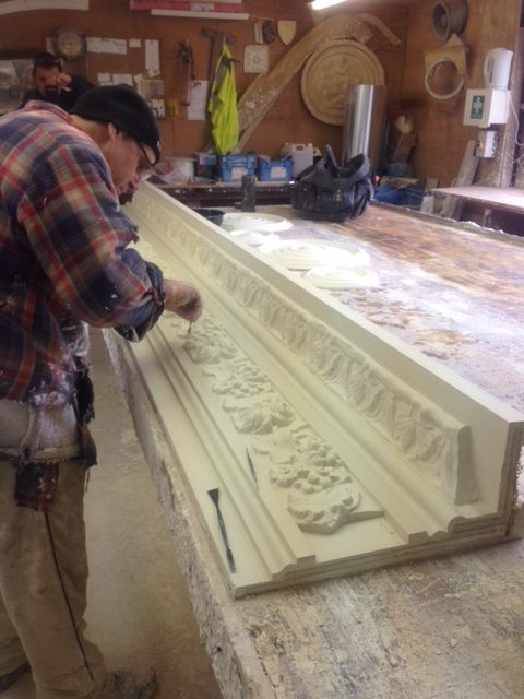 Manufacturing plaster mouldings to customer requirements